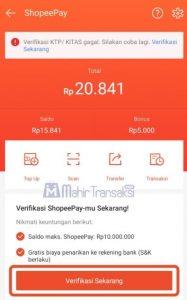 cara verifikasi akun ShopeePay