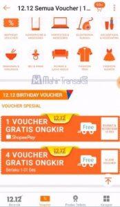 Voucher gratis ongkir ShopeePay