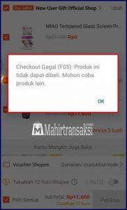 Trik Mengatasi Gagal Checkout Shopee