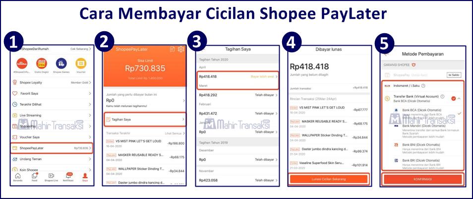 Cara Membayar Cicilan Shopee PayLater