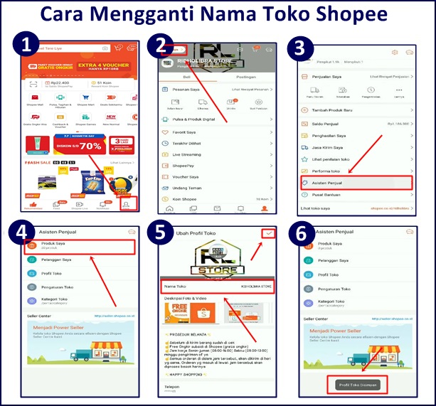 Cara Mengganti Nama Toko Shopee Melalui Aplikasi