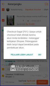 Penyebab Shopee Tidak Bisa Buat Pesanan & Solusinya