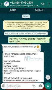 Cara Top Up ShopeePay Pakai Pulsa Gratis Terbaru