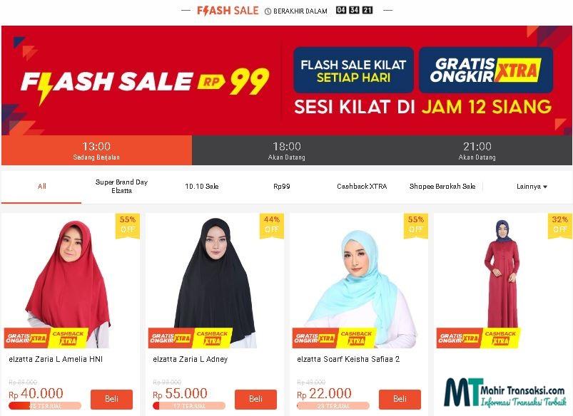 Cara Mendapatkan Flash Sale Shopee Rp. 99