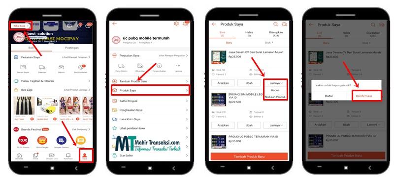 Cara Menghapus Produk Di Shopee Lewat Aplikasi Dan Website