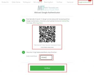 buka Aplikasi Google Authenticator di Ponsel kemudian klik Scan a Barcode lalu arahkan ke Barcode Tokopedia.