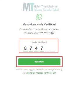 Kemudian masukan Kode OTP kemudian klik Verifikasi.
