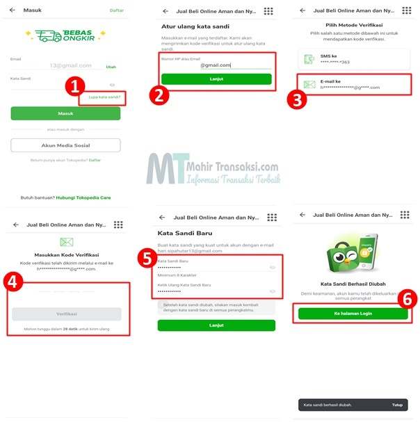 Cara Mengatasi Lupa Password Tokopedia Lewat Aplikasi & Website
