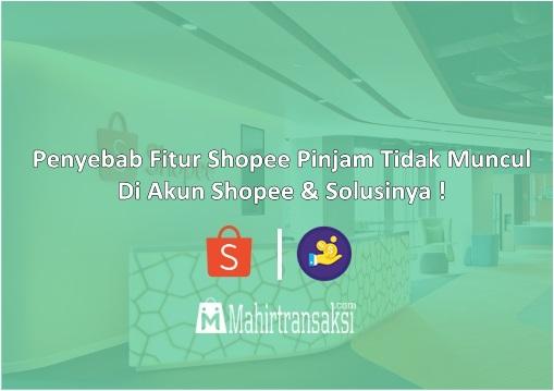 Penyebab Fitur Shopee Pinjam Tidak Muncul