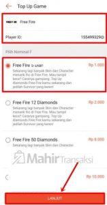 Cara Top Up Diamond Free Fire Di Shopee