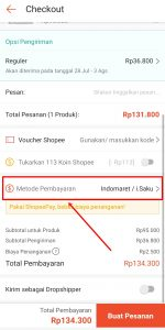 Cara Bayar Shopee Lewat Indomaret & iSaku