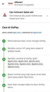 Cara Top Up GoPay Di Alfamart Dijamin Berhasil
