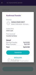 Cara Transfer OVO Ke Dana Tanpa Biaya Admin