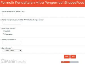 Cara Daftar Shopee Food Driver Lewat HP